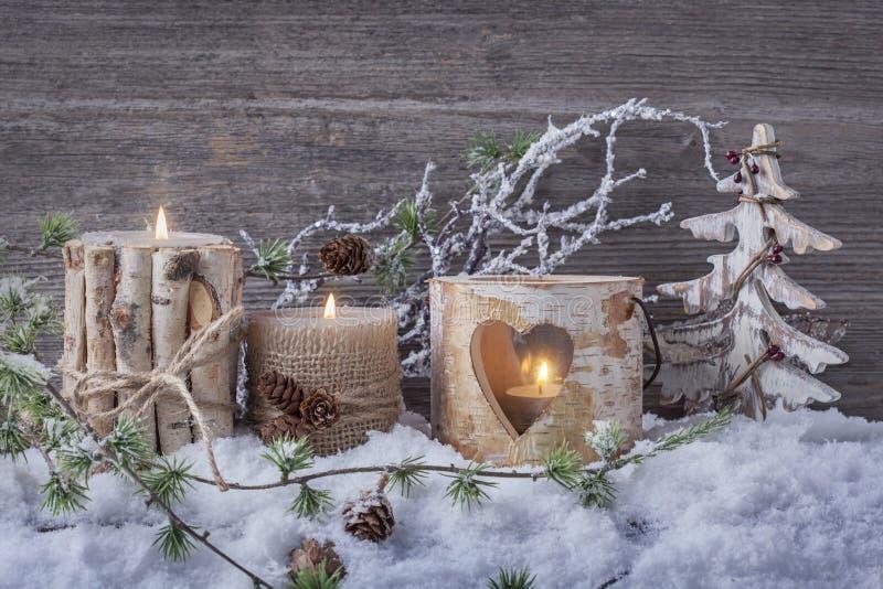 Velas do inverno fotos de stock