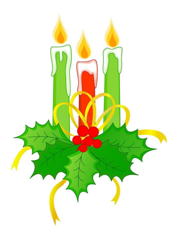 Velas do Natal ilustração do vetor