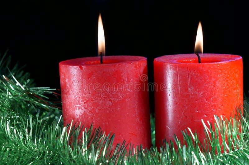 Velas do Natal imagem de stock