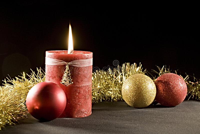 Velas do Natal imagem de stock royalty free