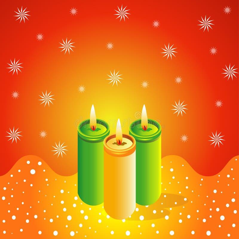 Velas do Natal ilustração stock