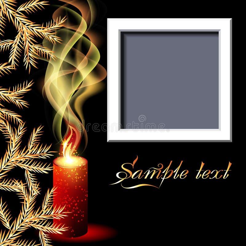 Velas e frame da foto ilustração stock