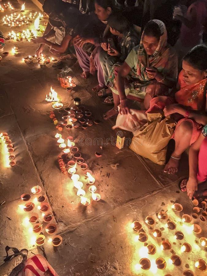 Velas para el revelador Diwali imágenes de archivo libres de regalías