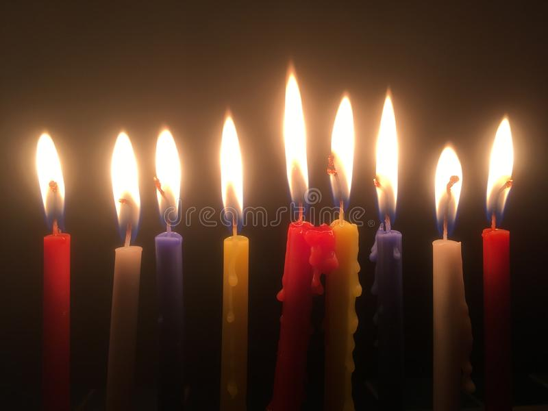 9 velas foto de stock royalty free