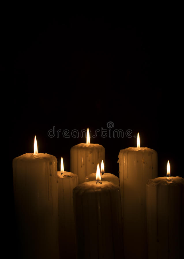 Velas temperamentais com fumo fotos de stock royalty free