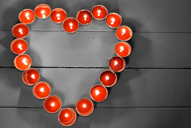 Velas vermelhas da luz do chá de Lite foto de stock