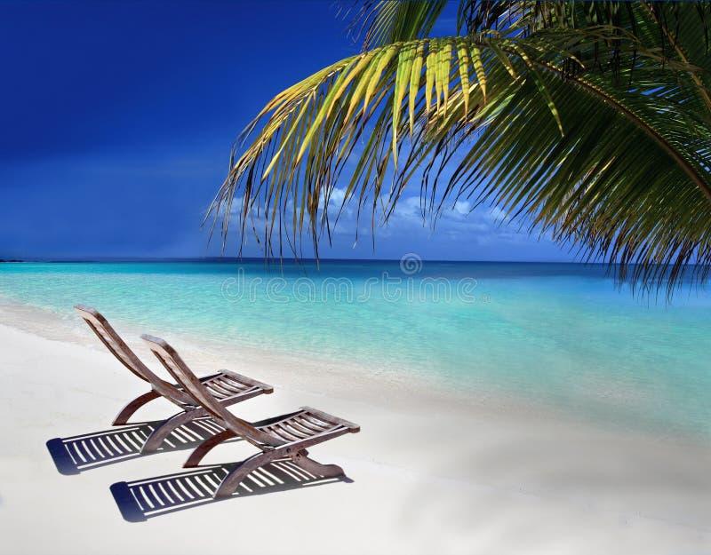 Velassaru Strand in den Maldives stockbild