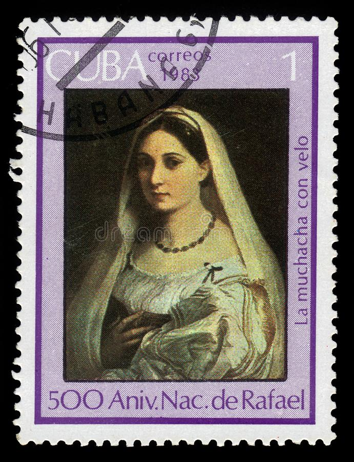 Velata donna Λα από το Rafael στοκ εικόνες