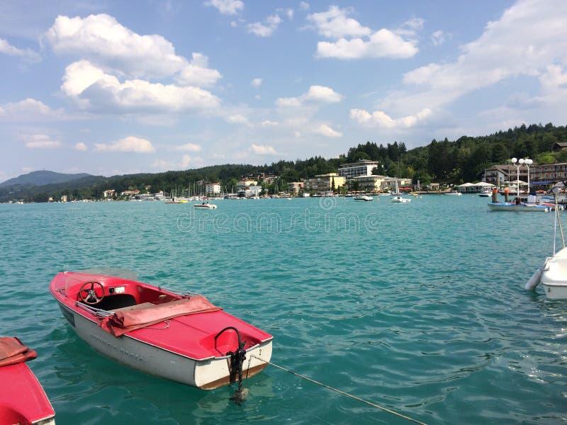 Velden lake stock photos