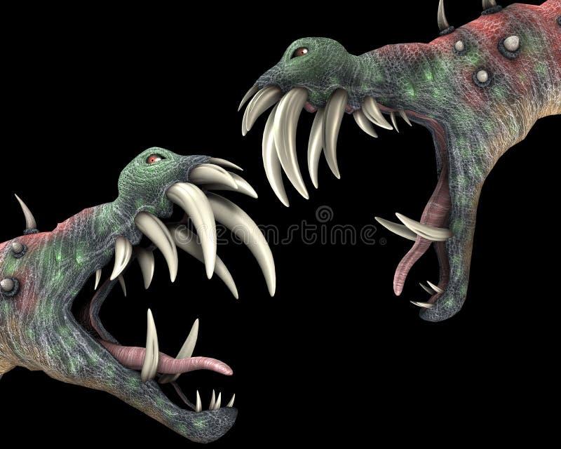 Vele Afschuwelijke Monsters 1 van Halloween stock illustratie