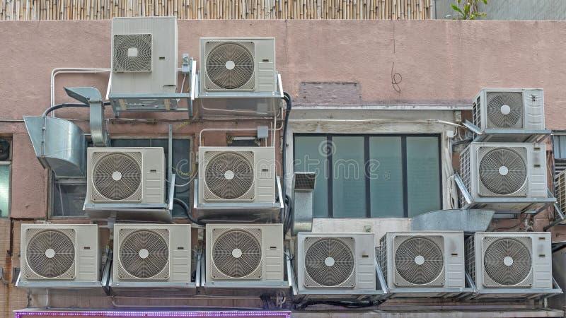 Vele Airconditioners stock fotografie