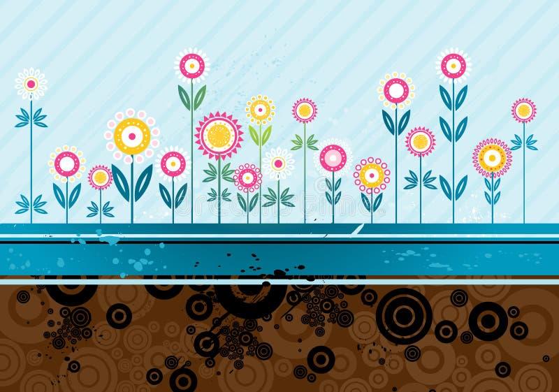 Vele bloemen, vector royalty-vrije illustratie