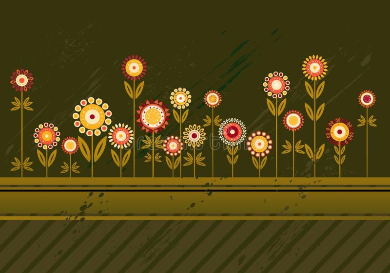 Vele bloemen, vector vector illustratie