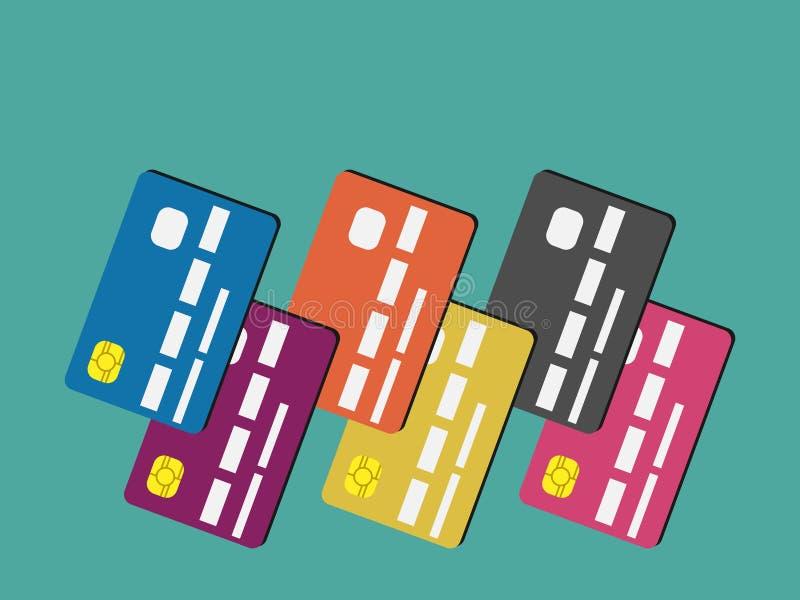 Vele creditcards vector illustratie