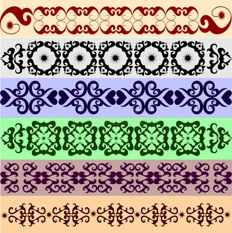 Vele decoratieve elementen vector illustratie
