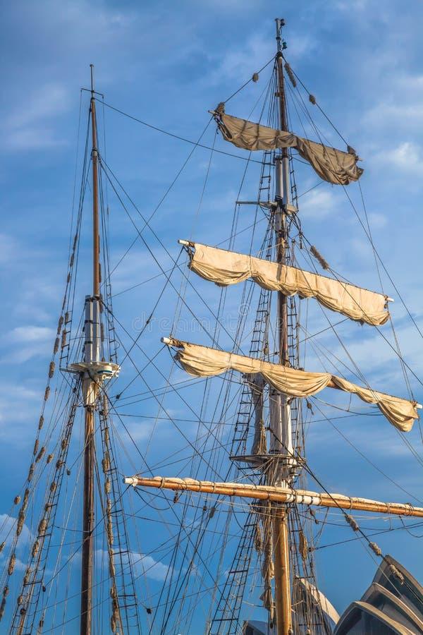 Vele della nave immagine stock libera da diritti
