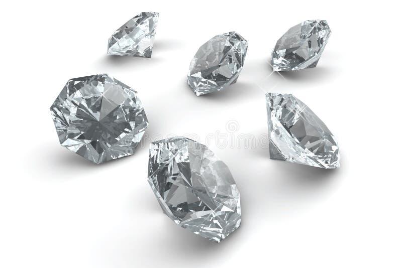 Vele fonkelende diamanten royalty-vrije illustratie