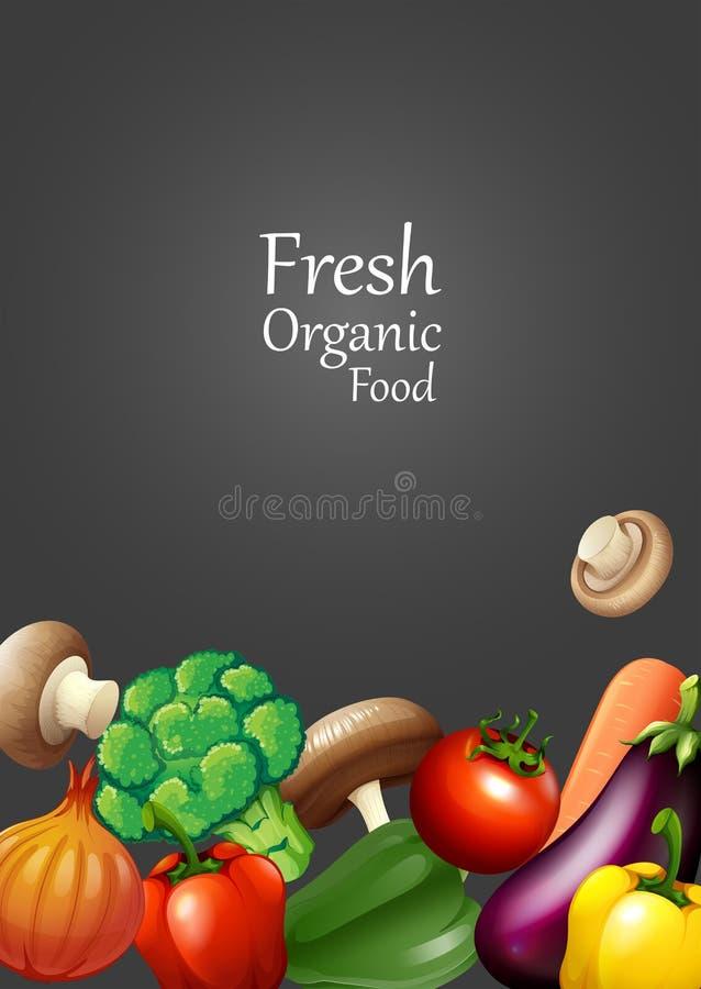 Vele groenten en tekstontwerp vector illustratie