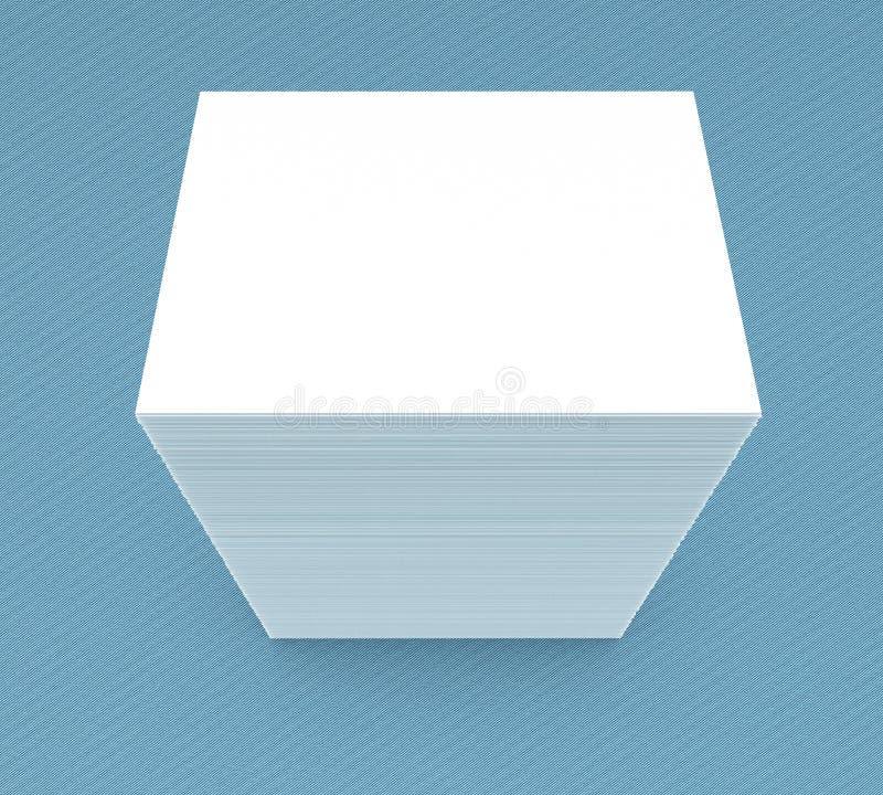 vele kaarten Malplaatje aan presentatie stock illustratie