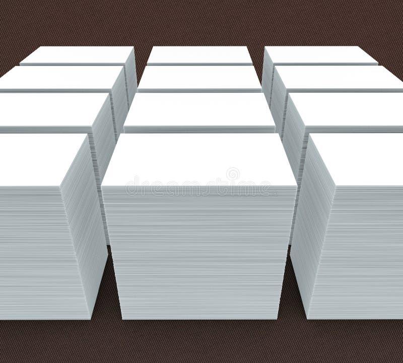 vele kaarten Malplaatje aan presentatie vector illustratie