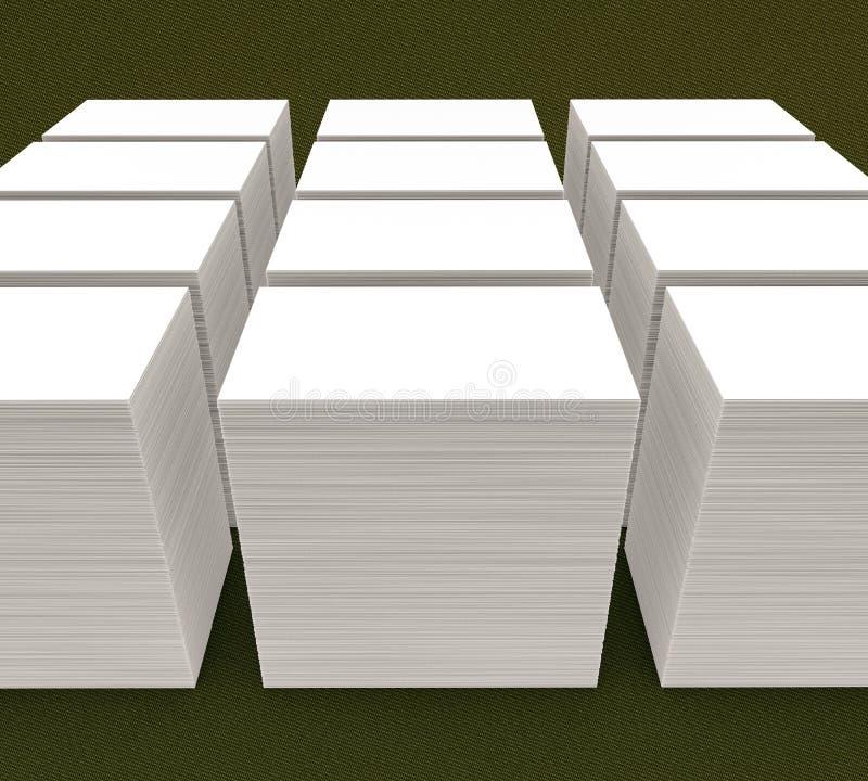 vele kaarten Malplaatje aan presentatie royalty-vrije illustratie