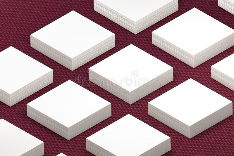 vele kaarten stickers Malplaatje aan presentatie vector illustratie