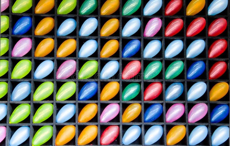 Vele kleurrijke ballons royalty-vrije stock afbeeldingen
