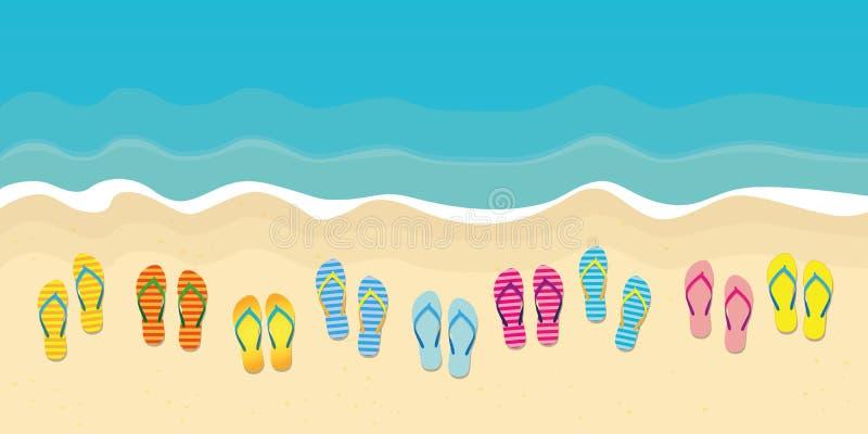 Vele kleurrijke wipschakelaars op het de vakantieontwerp van de strandzomer royalty-vrije illustratie