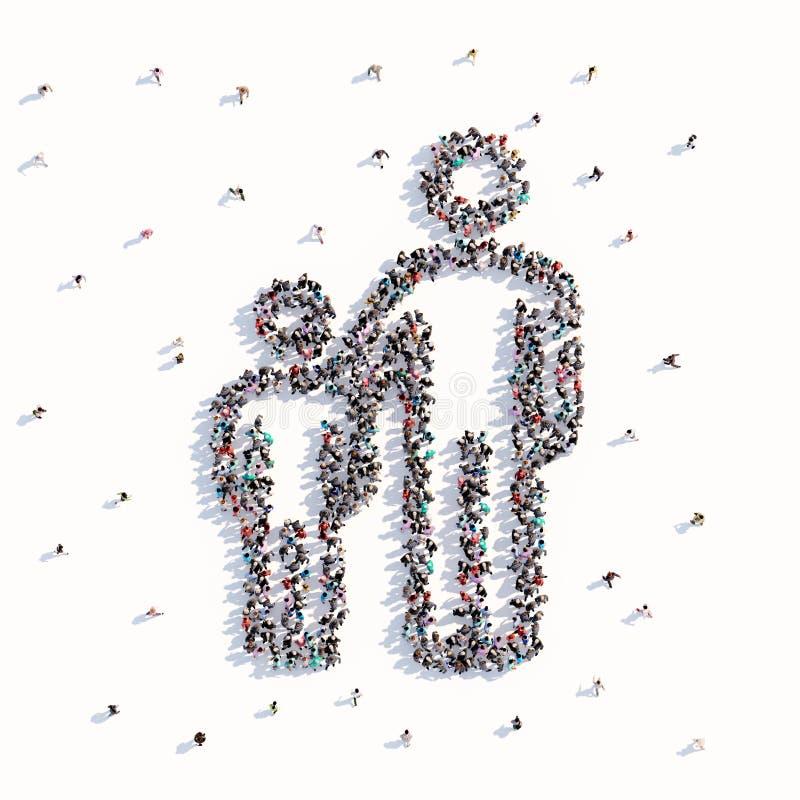Vele mensen vormen een vader en een kind vector illustratie