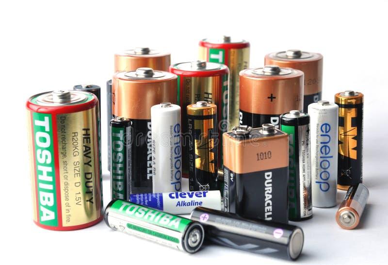 Vele merkenbatterijen stock fotografie