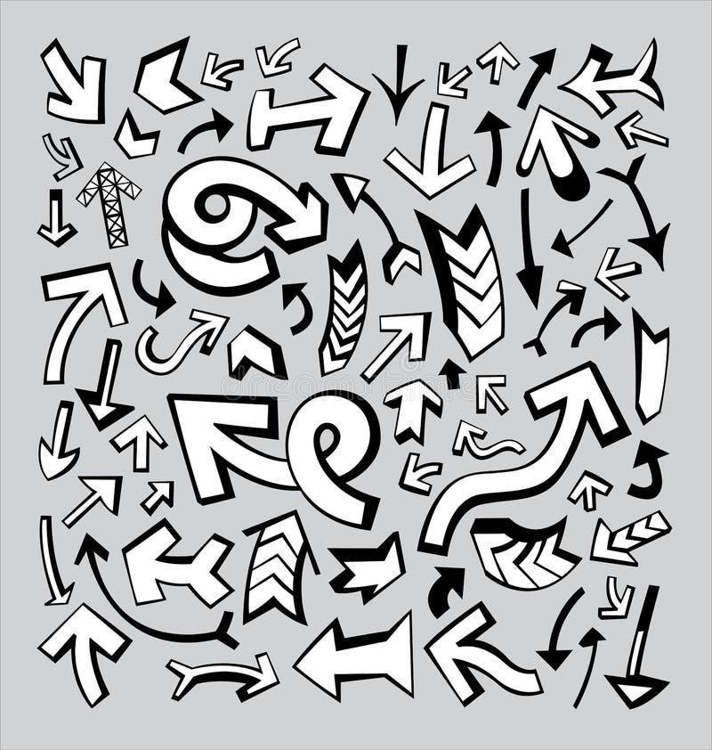 Vele Pijlen vector illustratie