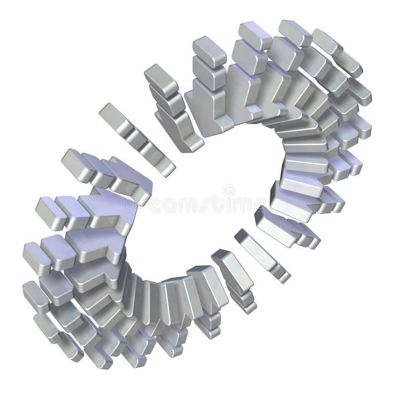 Vele pijlen schikten binnen naar het centrum vector illustratie