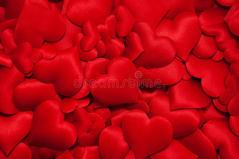 Vele rode harten royalty-vrije stock afbeelding