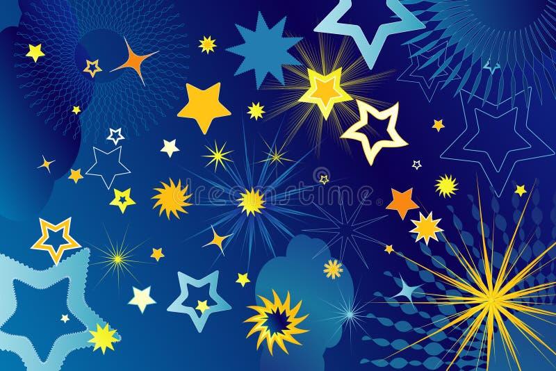 Vele sterren, vectorillustratie stock illustratie