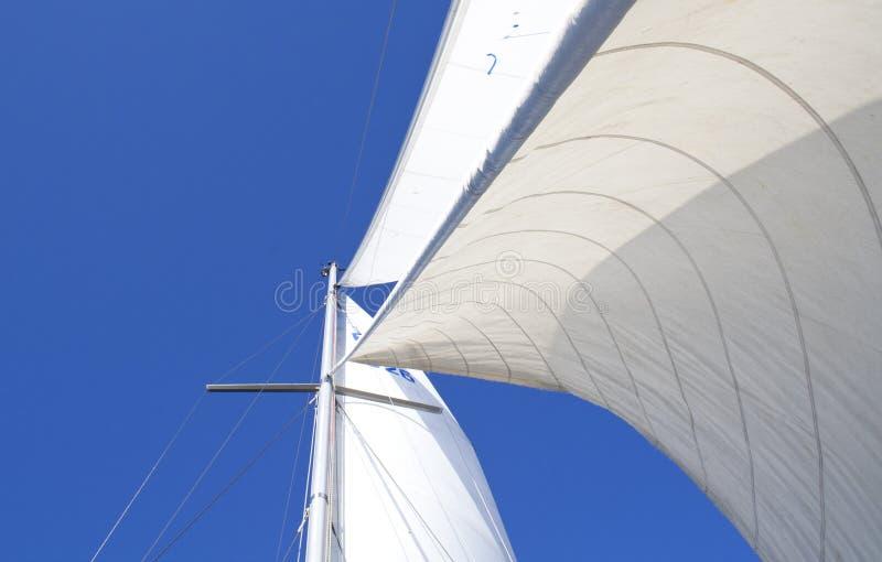 Vele in vento immagine stock