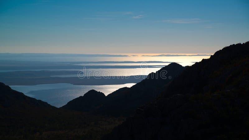 从Velebit山的看法在克罗地亚 免版税图库摄影