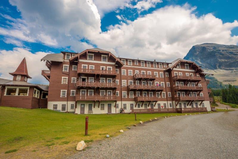 Velen de Gletsjer Nationaal Park van het Gletsjerhotel stock afbeelding