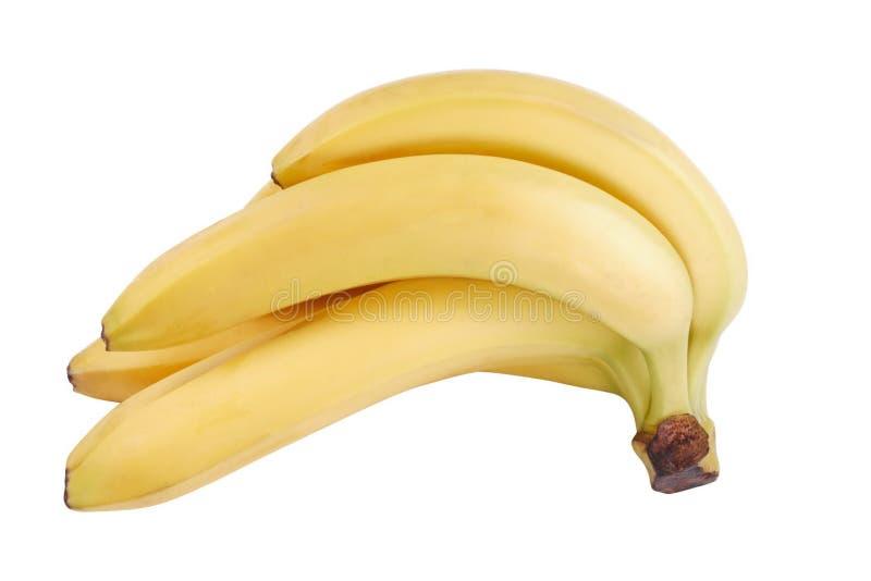 Velen gele die banaan bij droge zonnige dag wordt geïsoleerd stock afbeelding