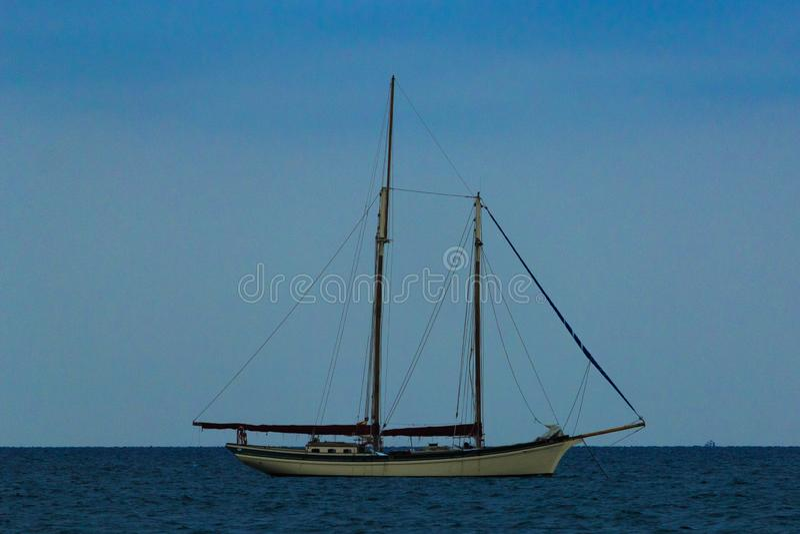 Velero rocznika żeglowania stary statek zdjęcie stock