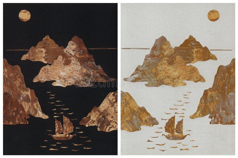 Veleros en Mar del Japón libre illustration