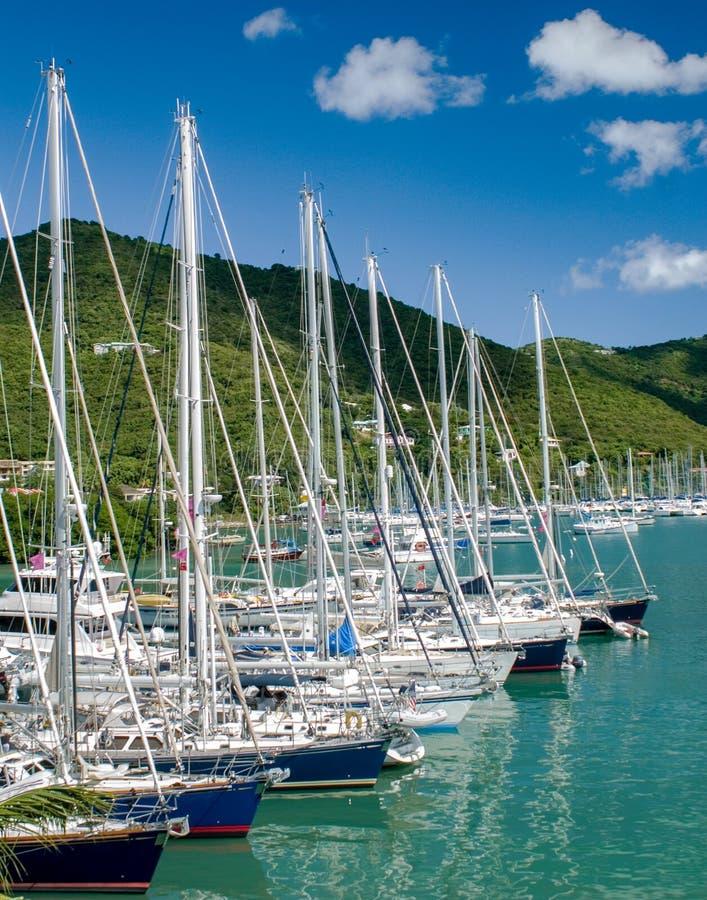 Veleros en Tortola, British Virgin Islands fotografía de archivo libre de regalías