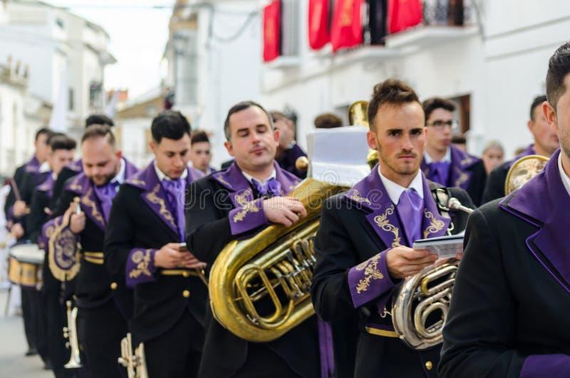 VELEZ-MALAGA,参加的西班牙- 2018 3月25日,人 免版税图库摄影
