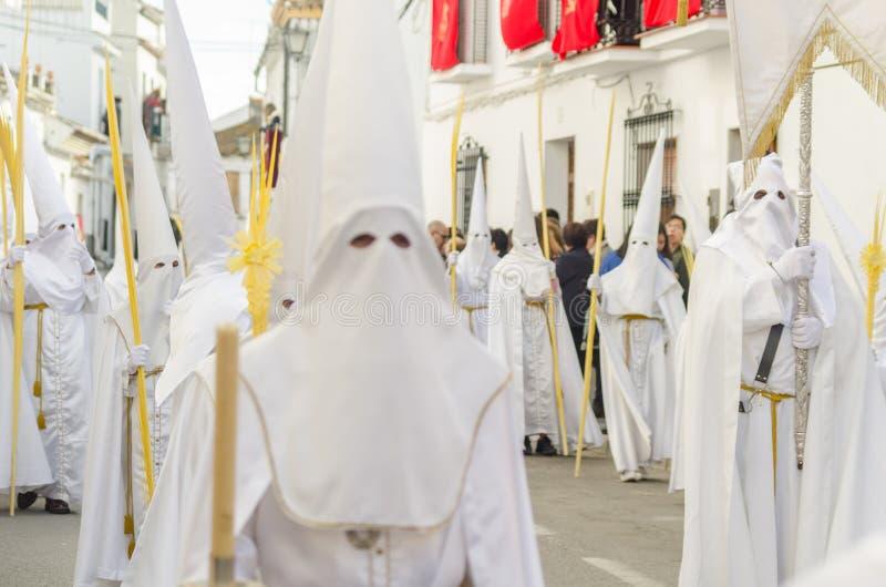 VELEZ-MALAGA,参加的西班牙- 2018 3月25日,人 免版税库存照片