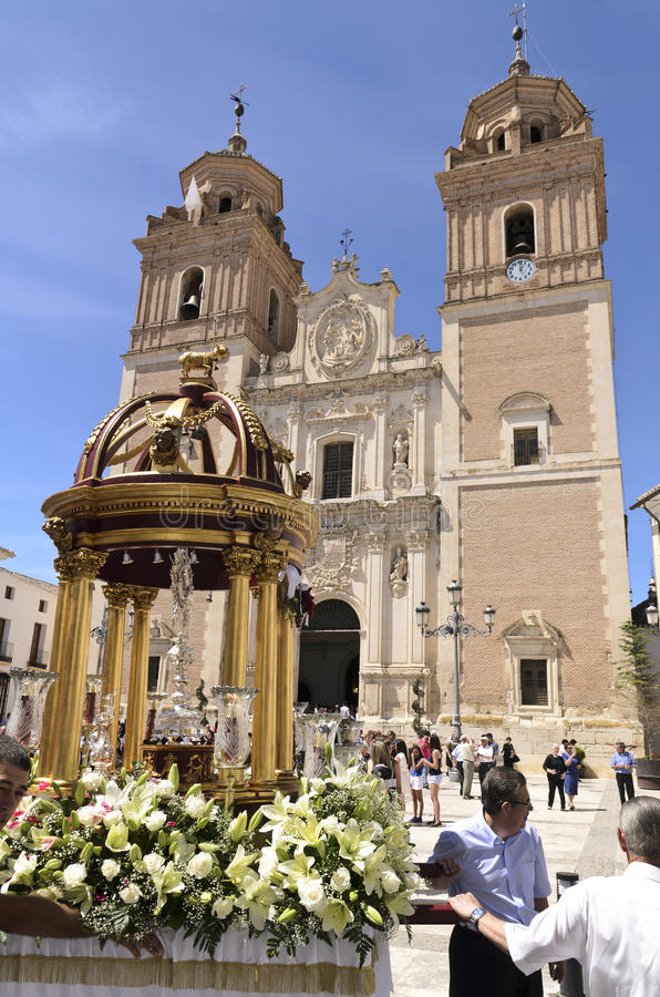 Corpus Christi en Velez-Rubio, España imagenes de archivo