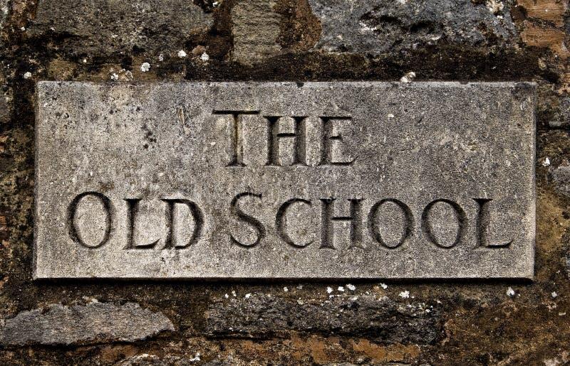 A velha escola foto de stock