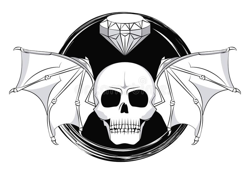 O Diamante Voa A Tatuagem Ilustração Stock Ilustração De