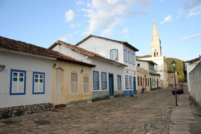 velho улицы goias булыжника стоковое изображение rf