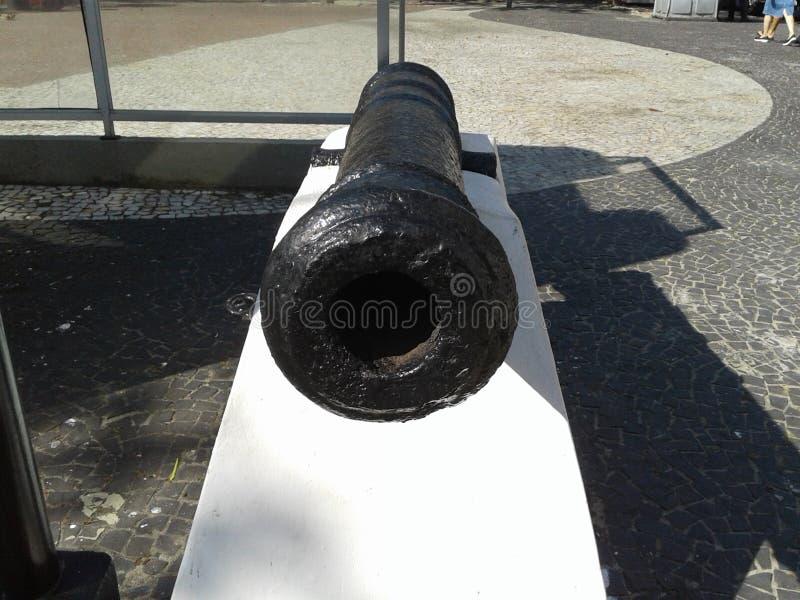 Velho canhão em Duque de Caxias Forte Leme Rio de Janeiro Brasil imagem de stock