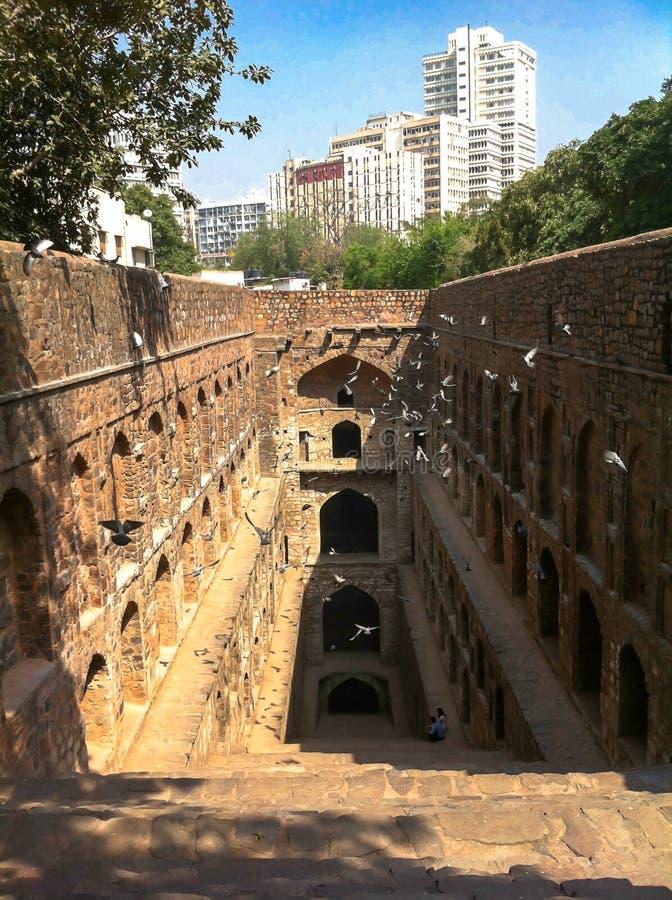 Velho e Nova Deli imagem de stock