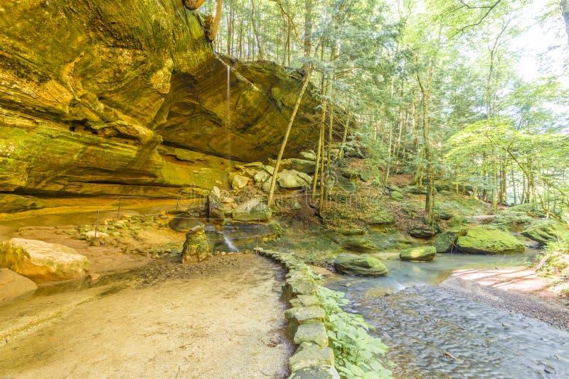 Velho equipa o monte ohio de Hocking da caverna fotos de stock
